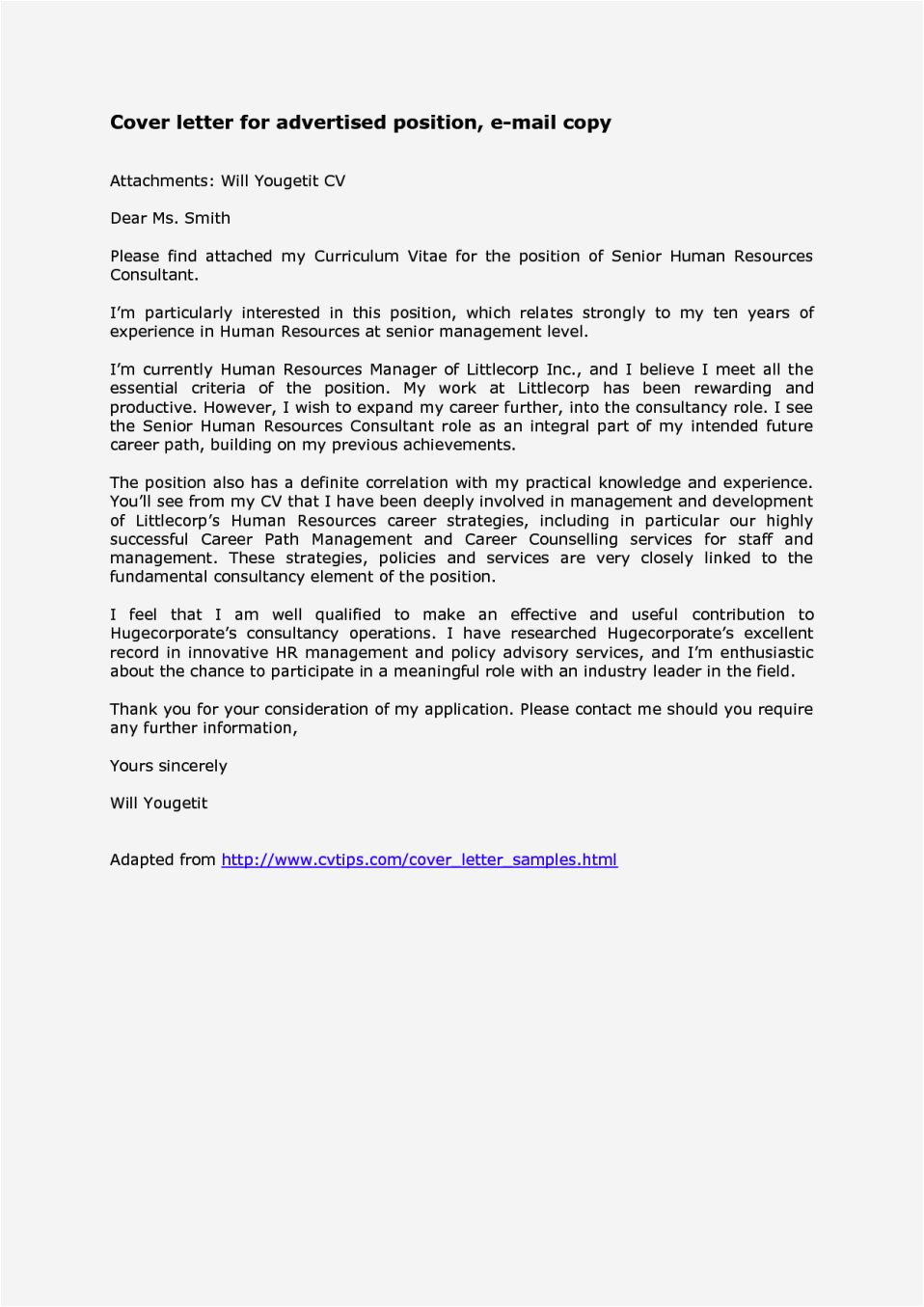 email cover letter sample with attached resume