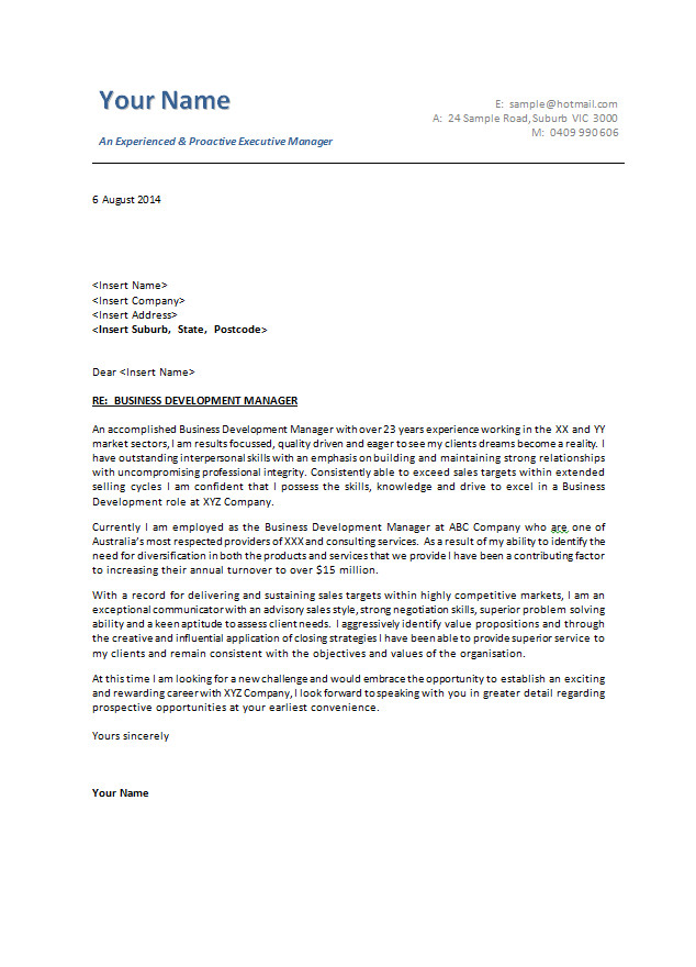 Cover Letter Tamplate Cover Letter Examples Cover Letter Templates Australia