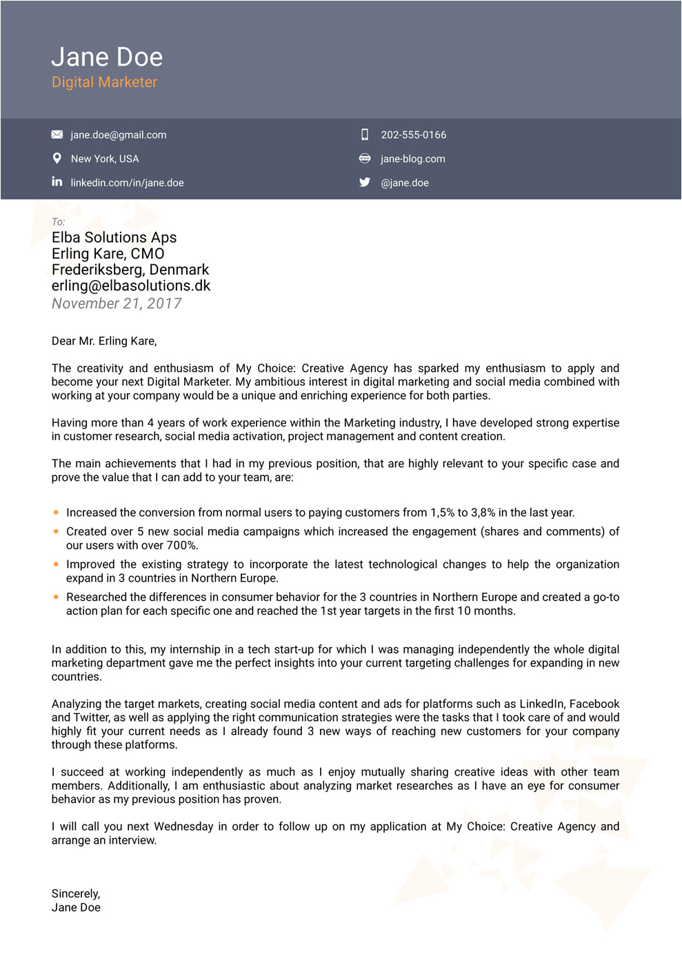 Cover Letter Tamplate top 8 Cover Letter Templates Use Land Your Dream Job now