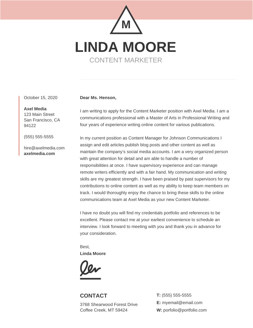 Cover Letter Templetes 10 Cover Letter Templates and Expert Design Tips to