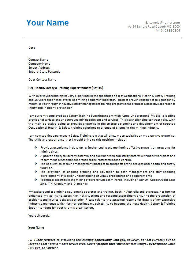 Cover Letter Templets Cover Letter Examples Cover Letter Templates Australia