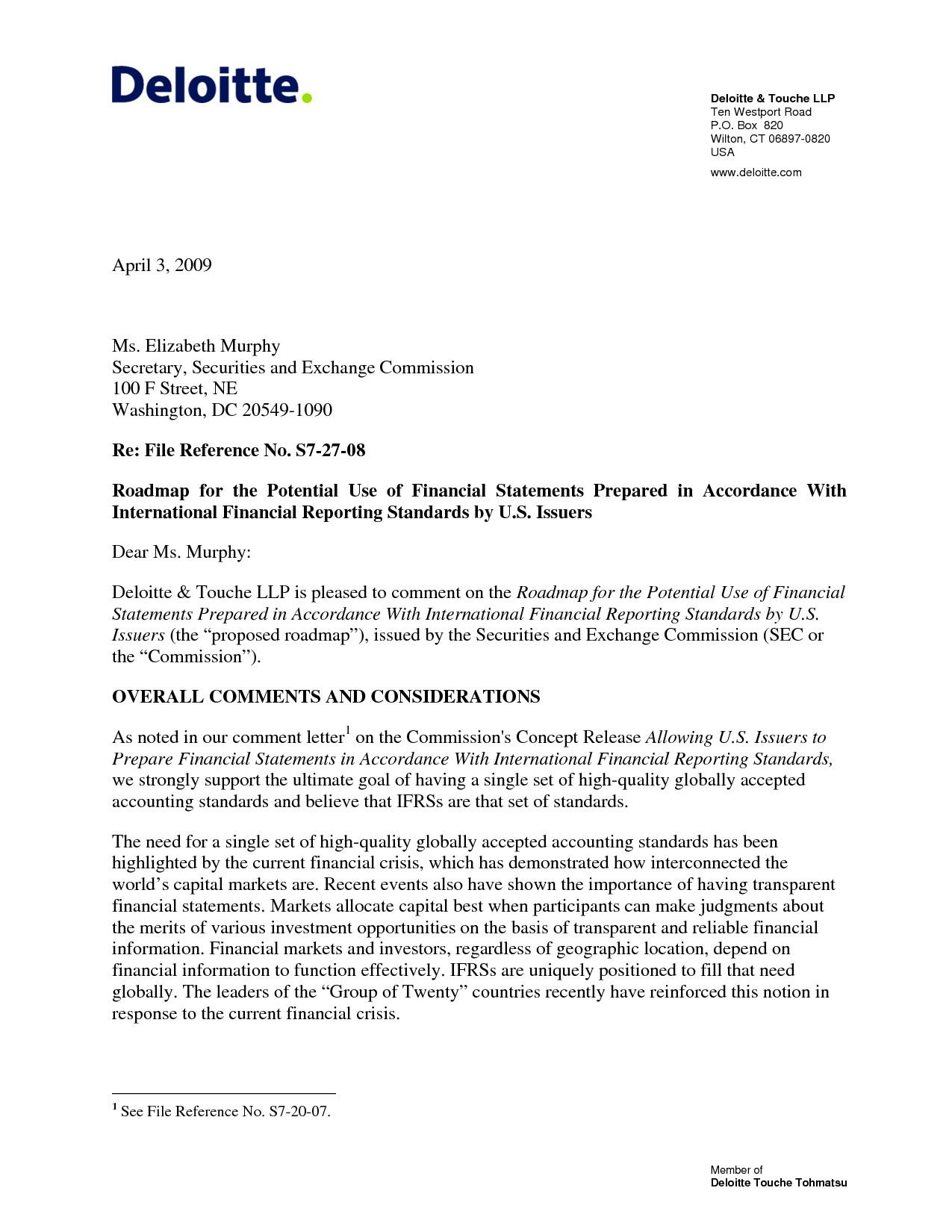 Cover Letter to Kpmg Deloitte Audit Intern Resume Deloitte Resume Resume Ideas