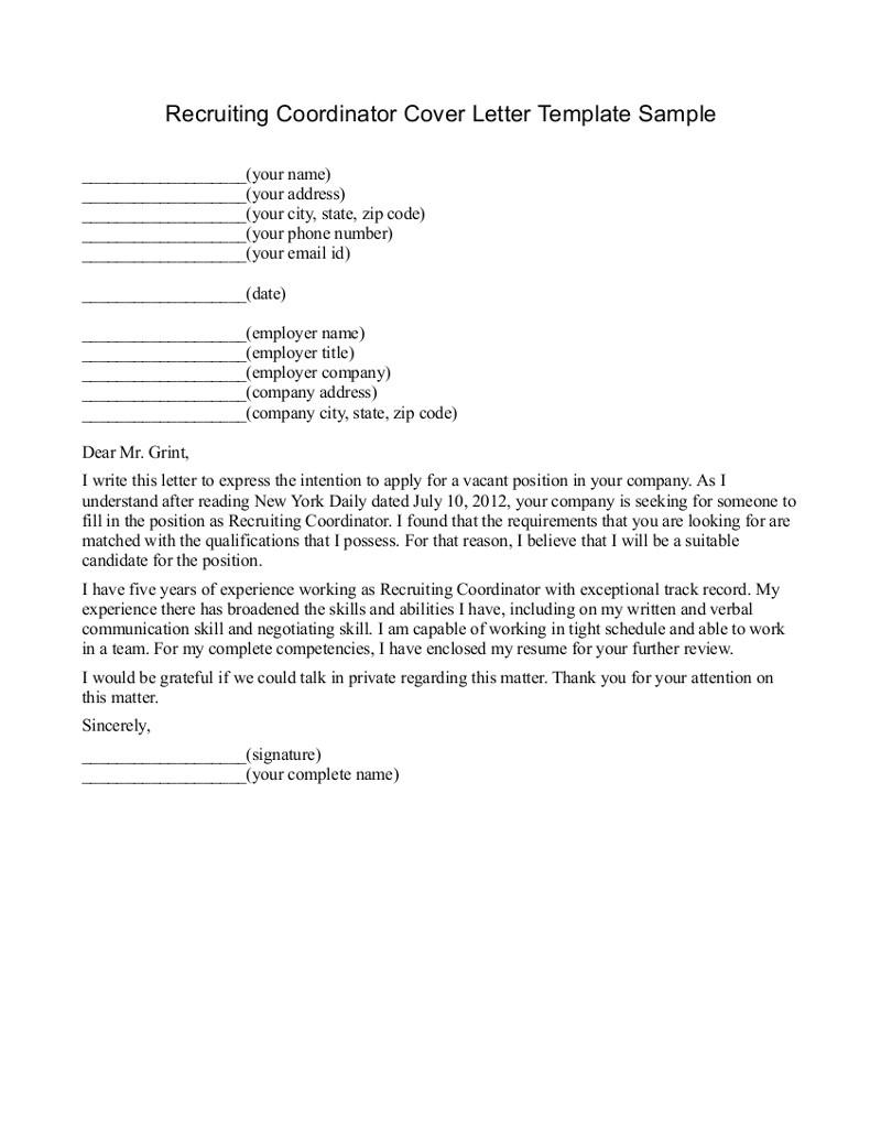 recruiter cover letter 440