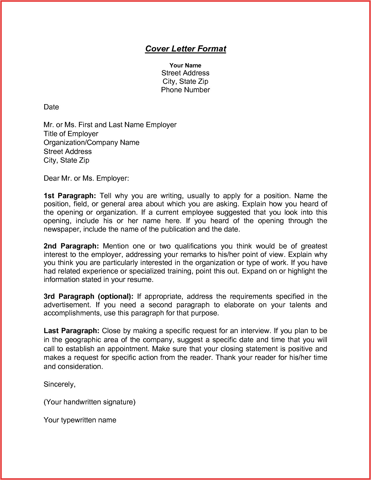 cover letter for unknown company