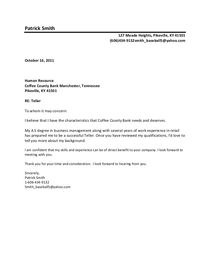 cover letter to whom it may concern alternative