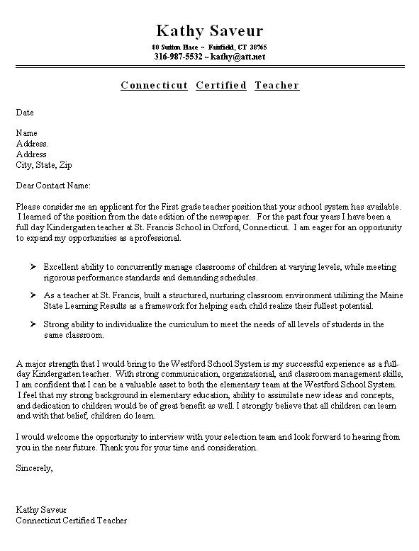 simple cover letter examples uk
