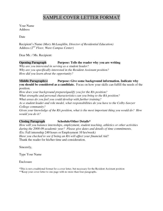 cover letter without name