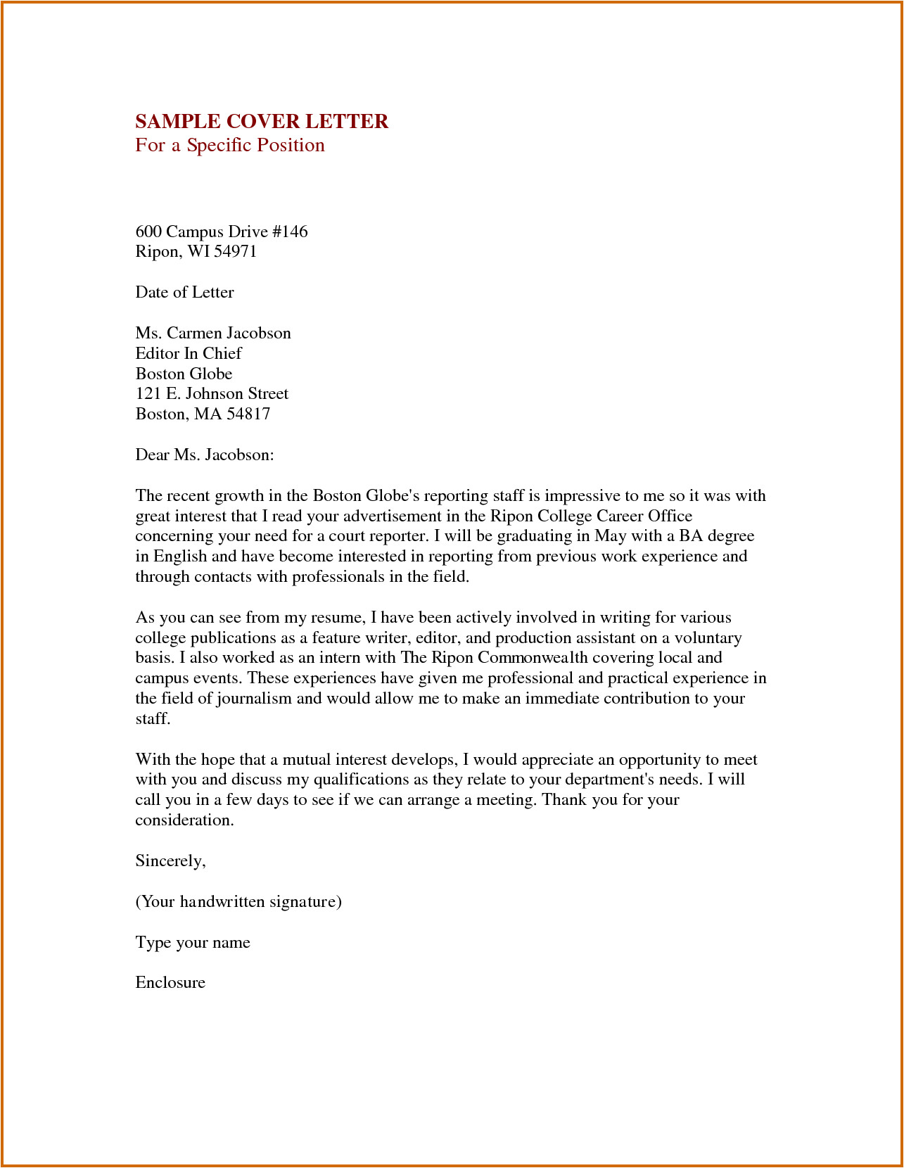 Cover Letter without Specific Position 8 How to Write An Impressive Resume Lease Template