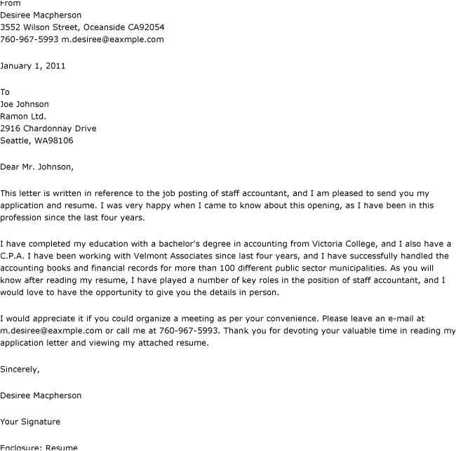 Cover Letters for Accountants Accounting Cover Letter Example