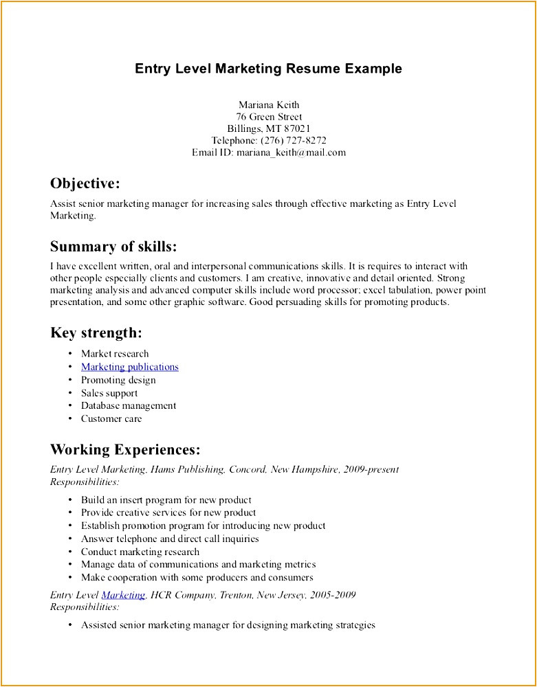 beginner acting resume sample 89068l