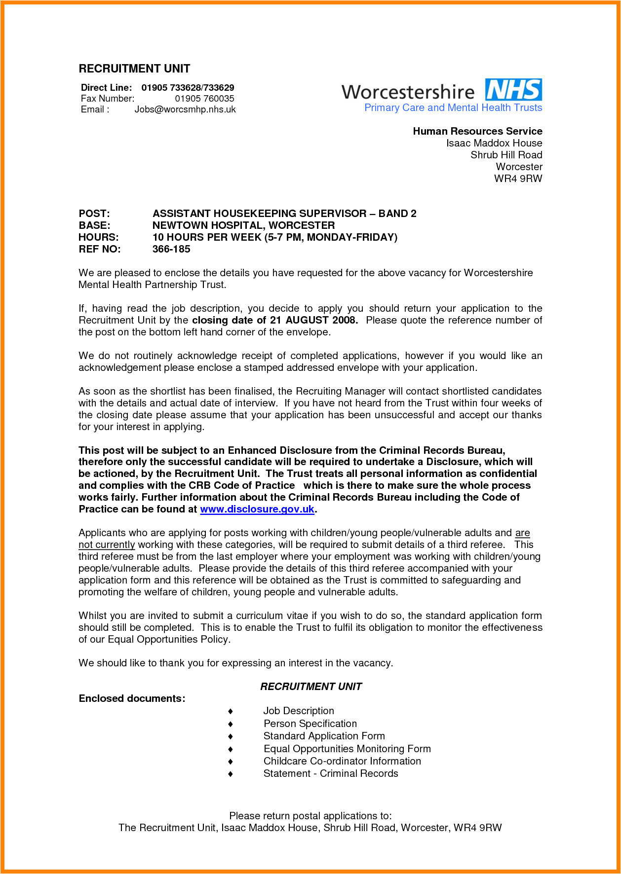 Cover Letters for Hospital Jobs 10 Sample Of Application Letter to A Hospital Edu Techation