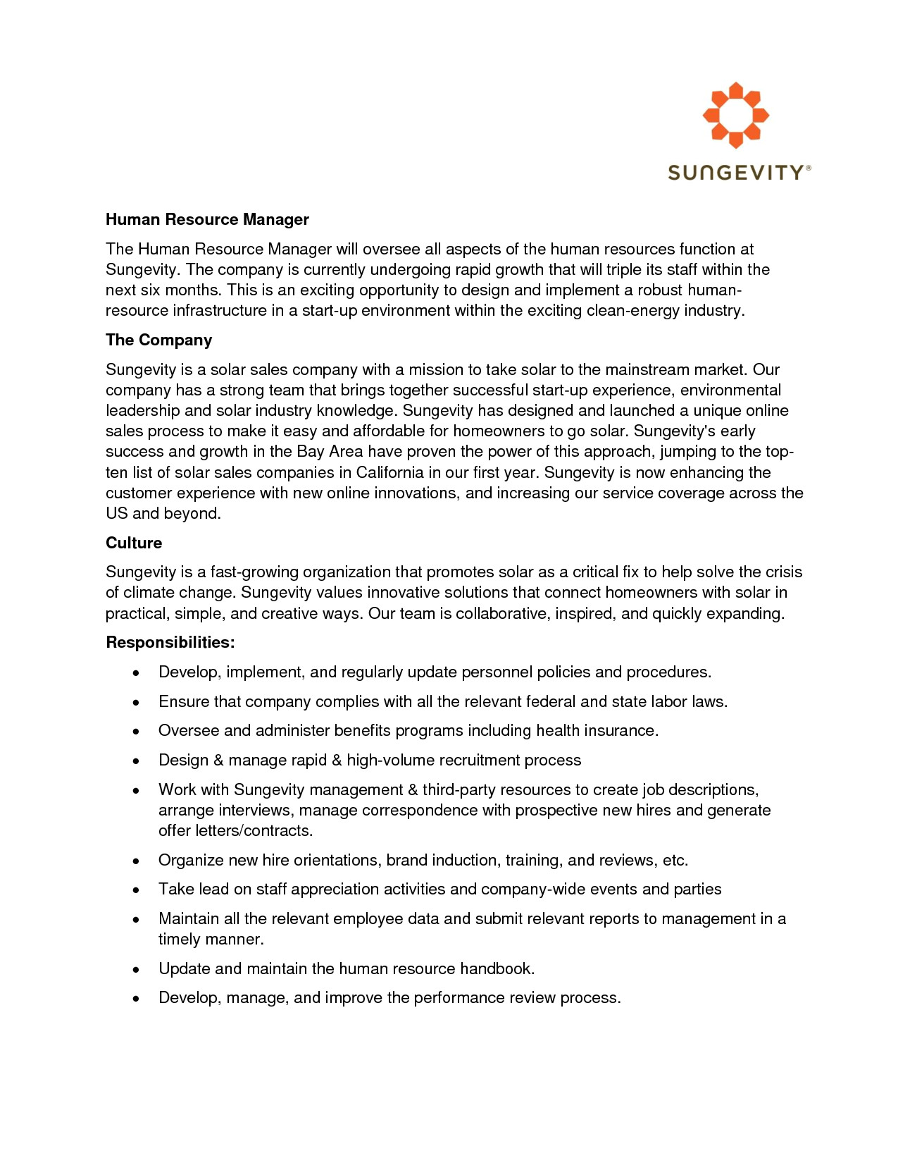 free cover letter for hr jobs