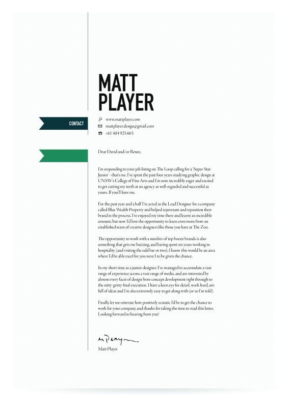 wonderfull cover letters that get noticed