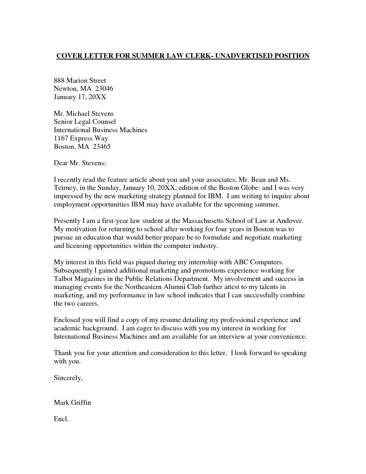 Cover Letters that Get the Job Employment Cover Letter Template Wondercover Letter