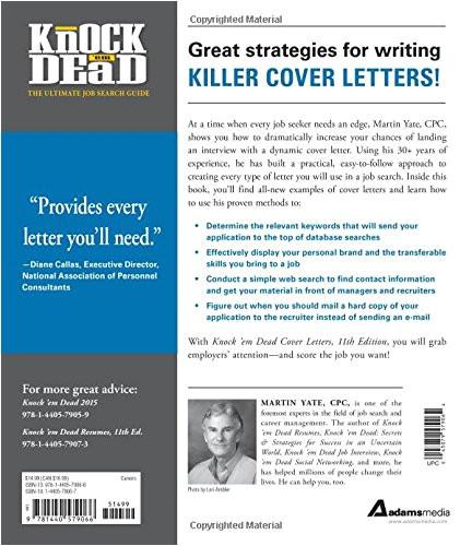 Cover Letters that Knock Em Dead Knock 39 Em Dead Cover Letters Cover Letters and Strategies