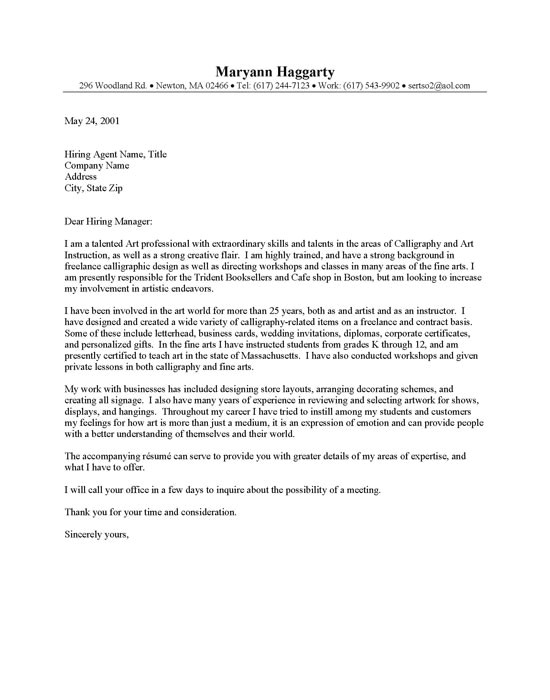 a cover letter that will stand out examples