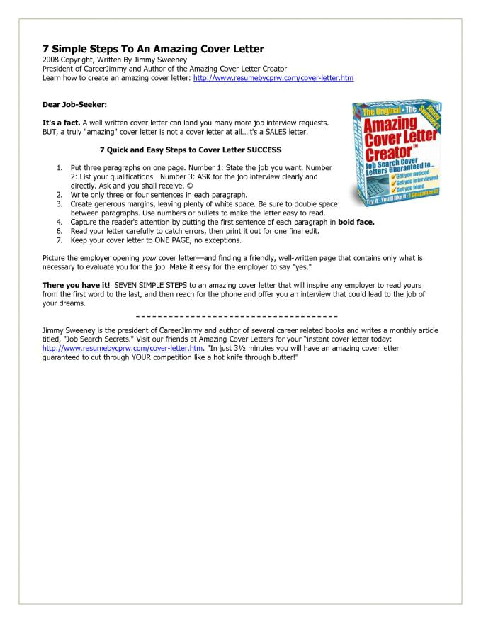 free cover letter creator