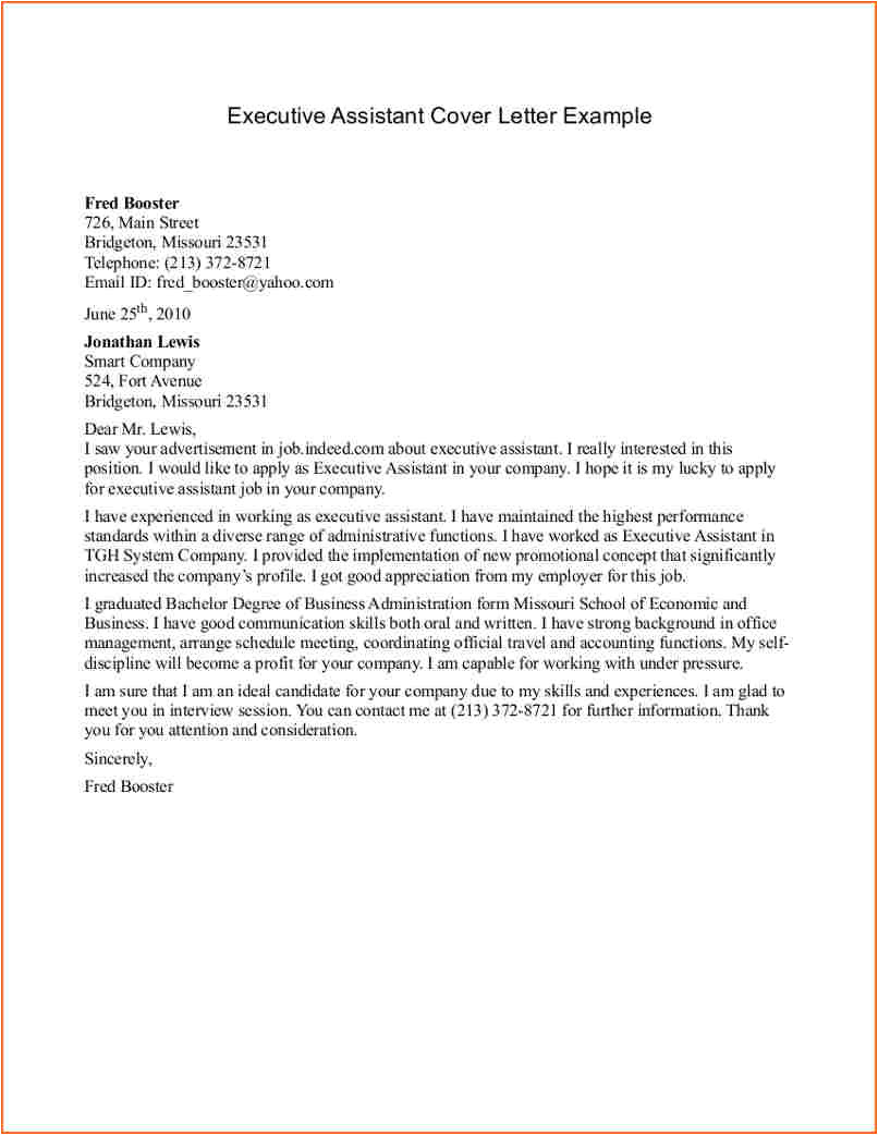 Covering Letter Example for Administrative Position 13 Administrative assistant Cover Letter Budget