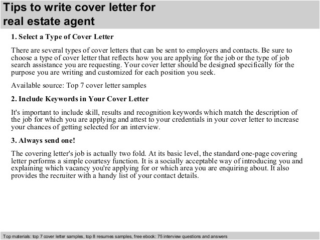 real estate agent cover letter 39611679