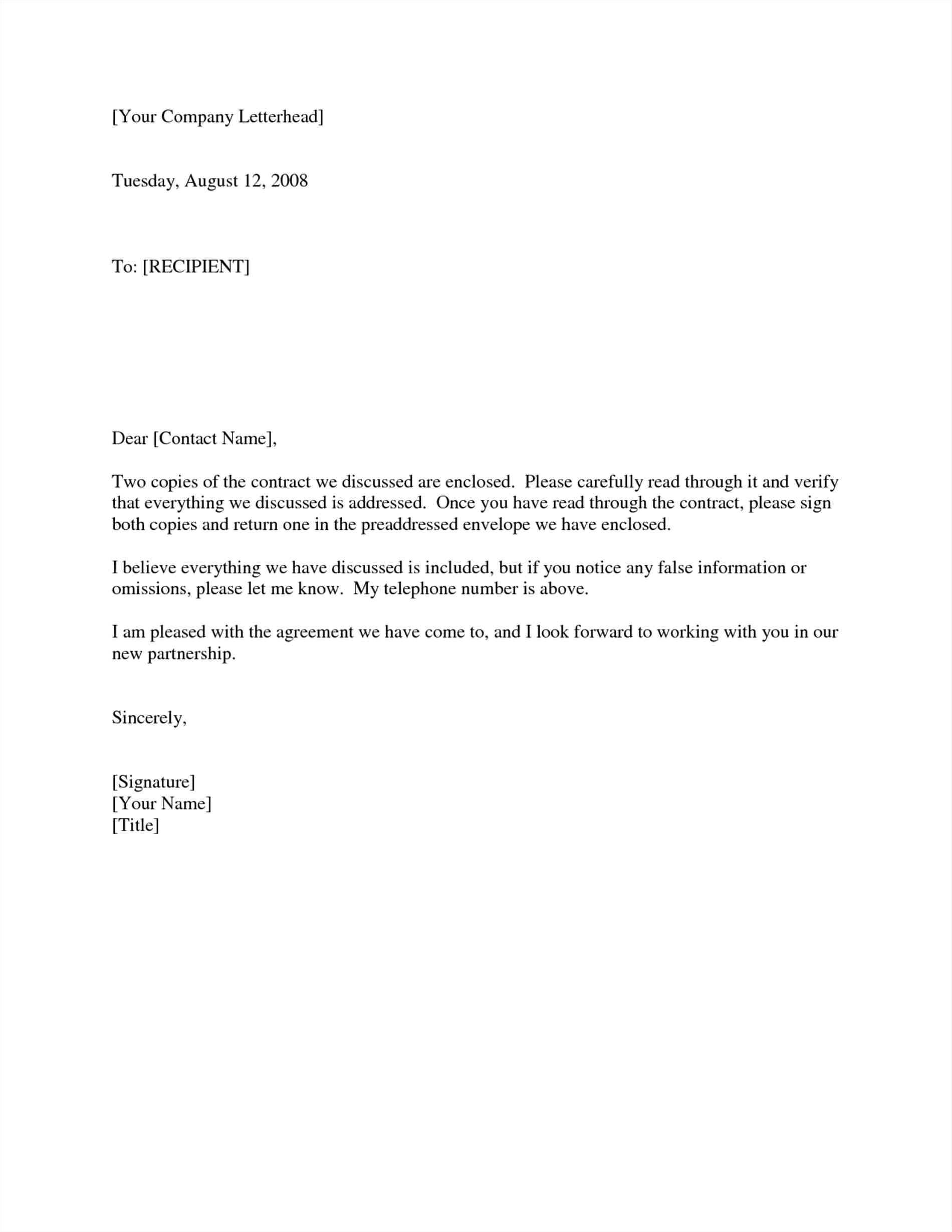 cover letter sample sending documents