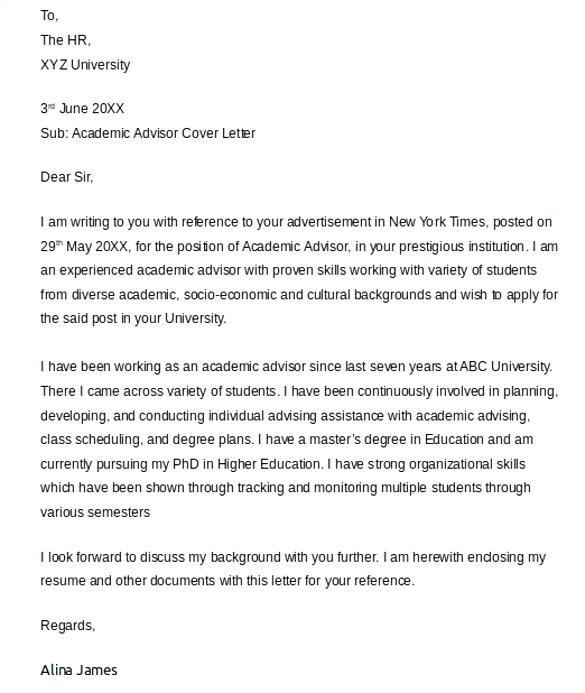 academic cover letter length