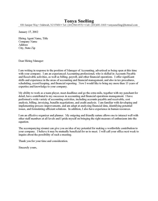 cpa cover letter examples