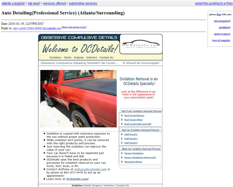 Craigslist HTML Templates Blog Posts Revizionpool