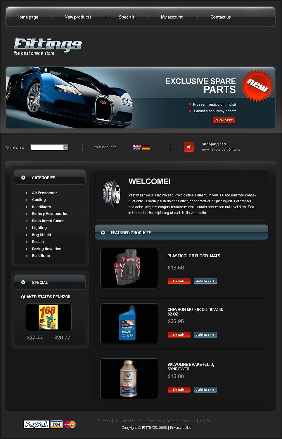 Cre Loaded Templates Auto Parts Cre Loaded Template 20675
