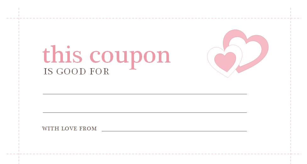 Create A Coupon Template Free Valentines Day Coupons Valentines Day Coupons Template