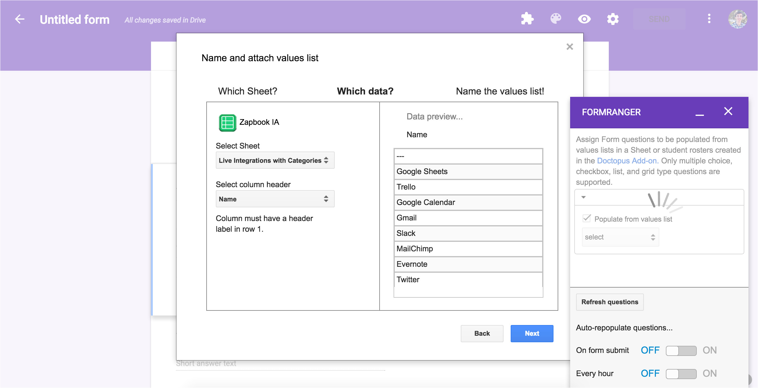 google forms templates 2