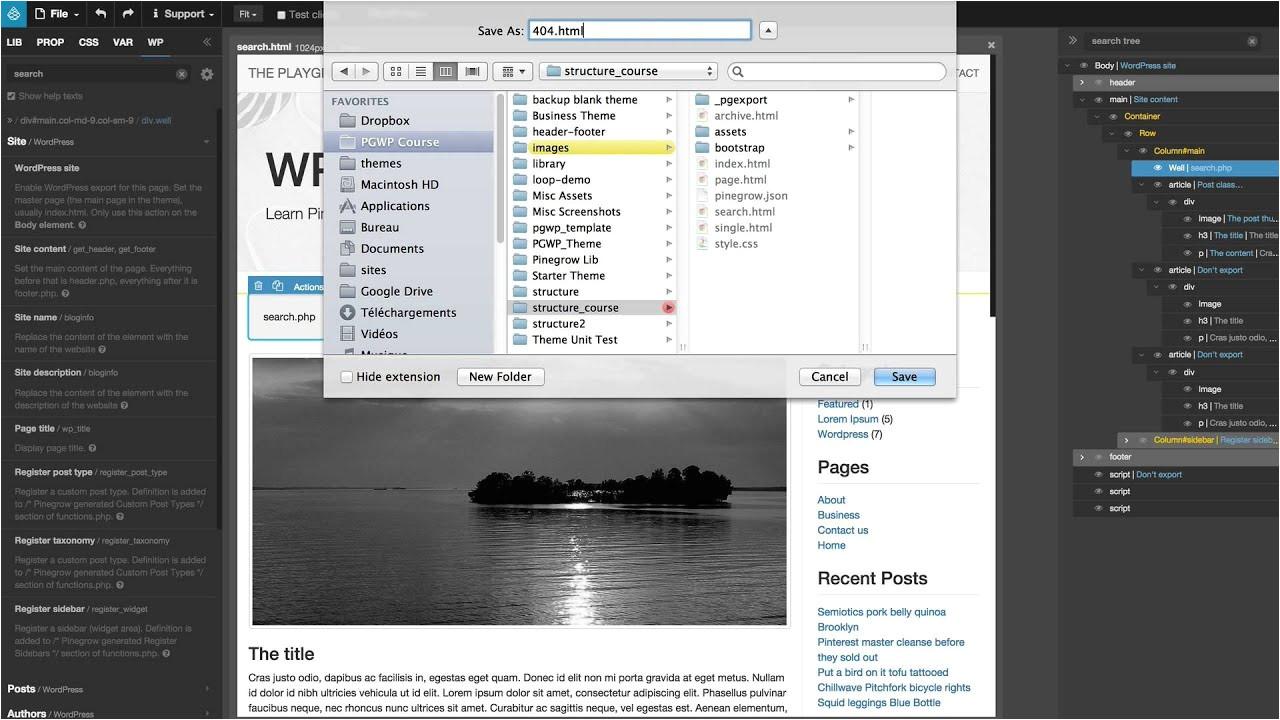 Create A New Page Template WordPress 11 Create A New WordPress Template From the Index Page