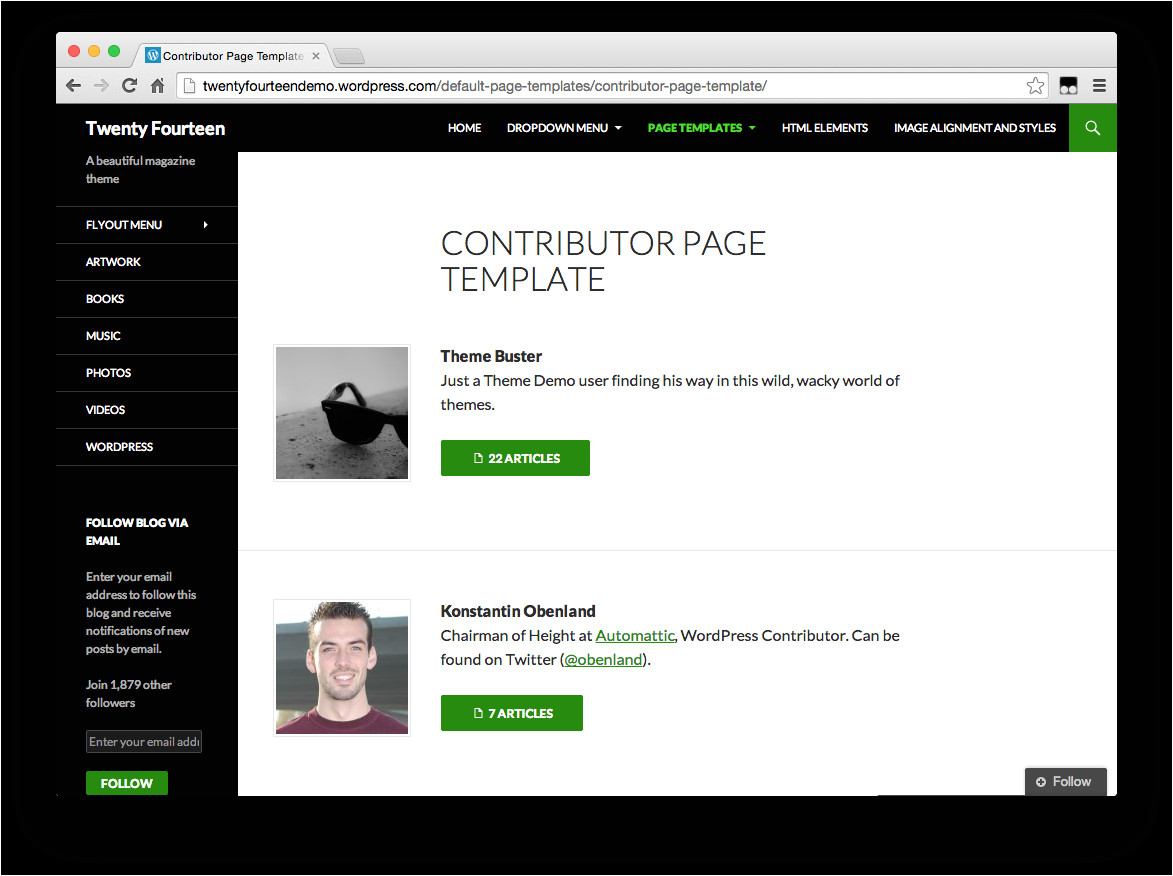 creating custom page templates in