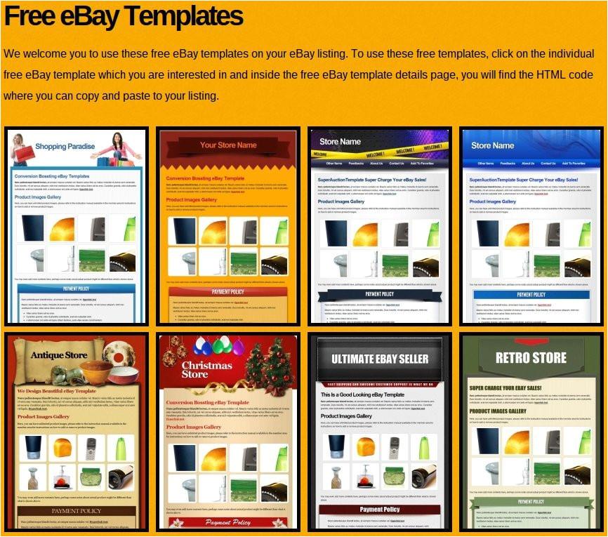create ebay listing template free