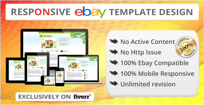 create responsive ebay listing template