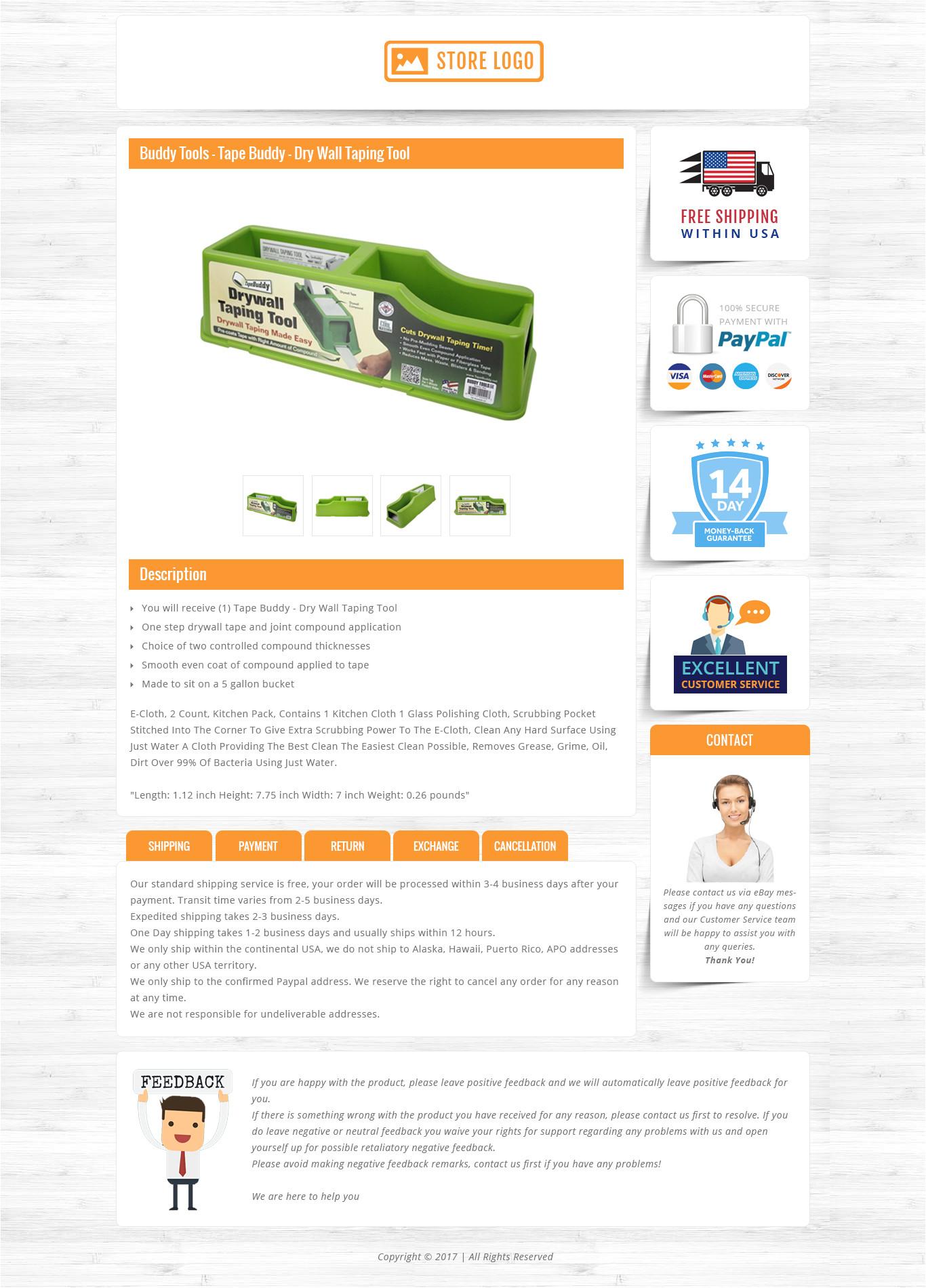 plantilla de ebay gratis html