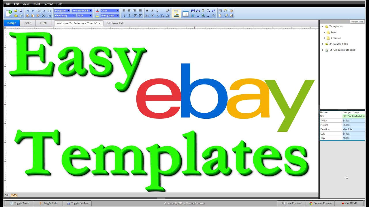Create An Ebay Template How to Make Free Ebay Templates HTML Step by Step