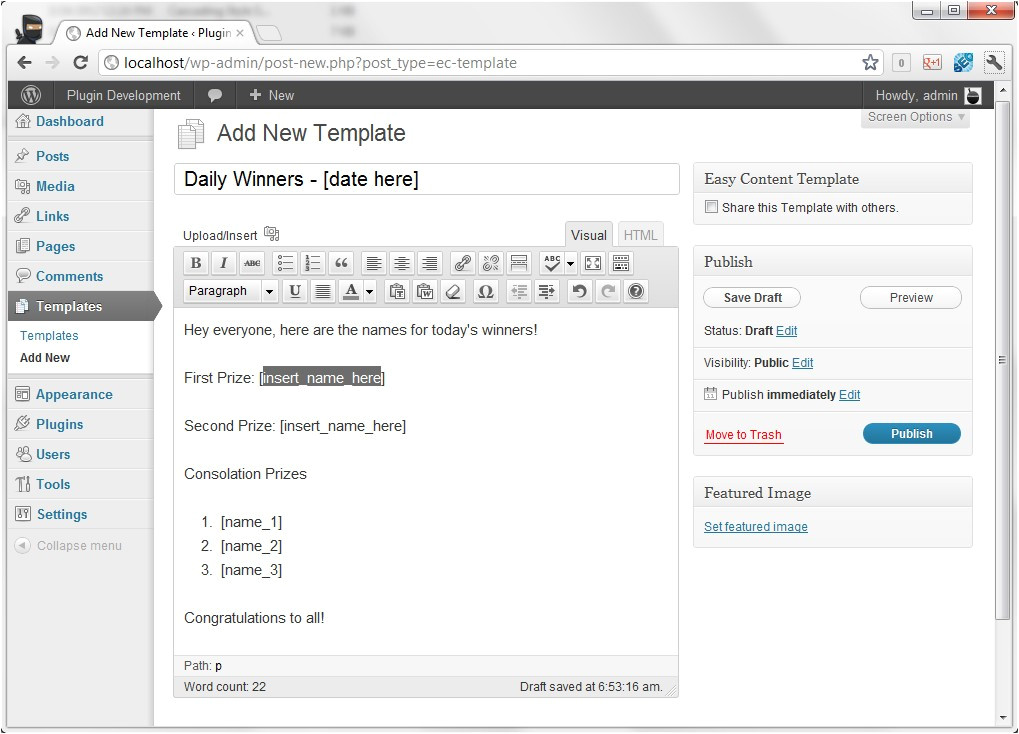 Create New Template In WordPress How to Set Up Post Templates In WordPress Nose Graze