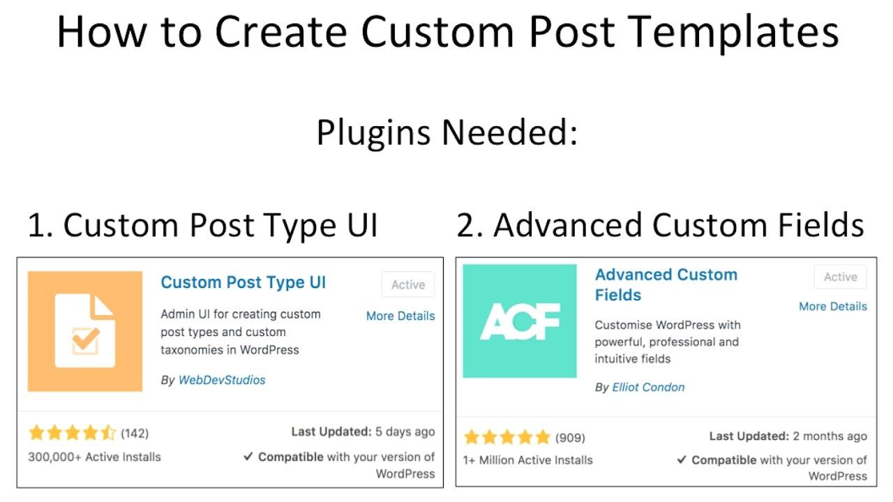 Create Post Template WordPress How to Create Custom Post Templates In WordPress Youtube