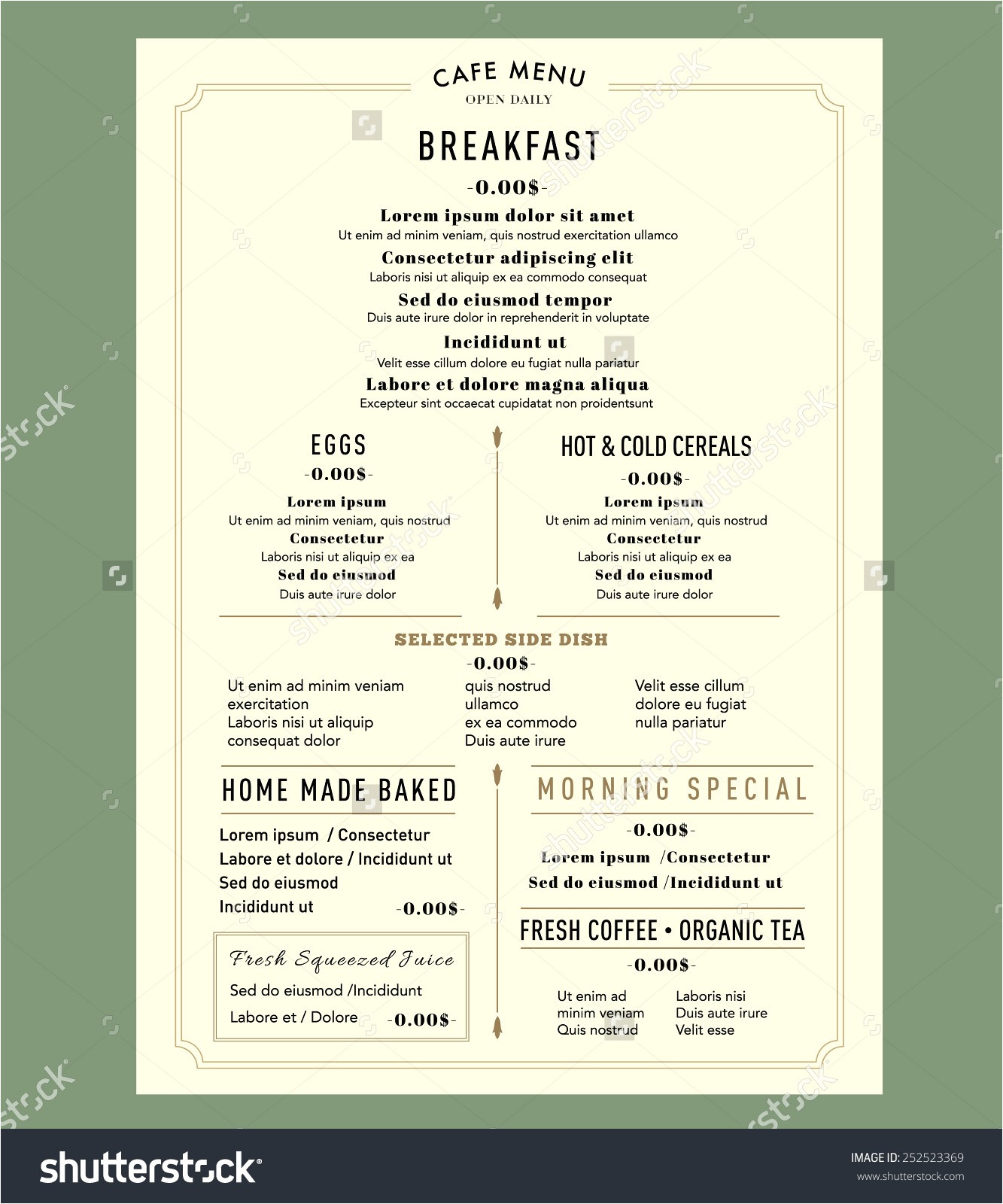 make your own menu template