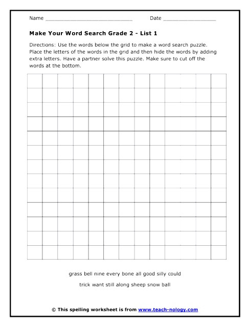 Create Your Own Word Search Template 6 Create Your Own Word Search Template Tyiye Templatesz234