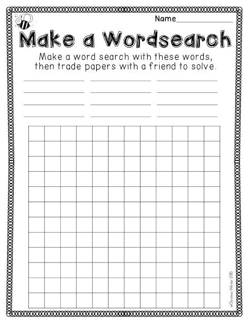 create a wordsearch