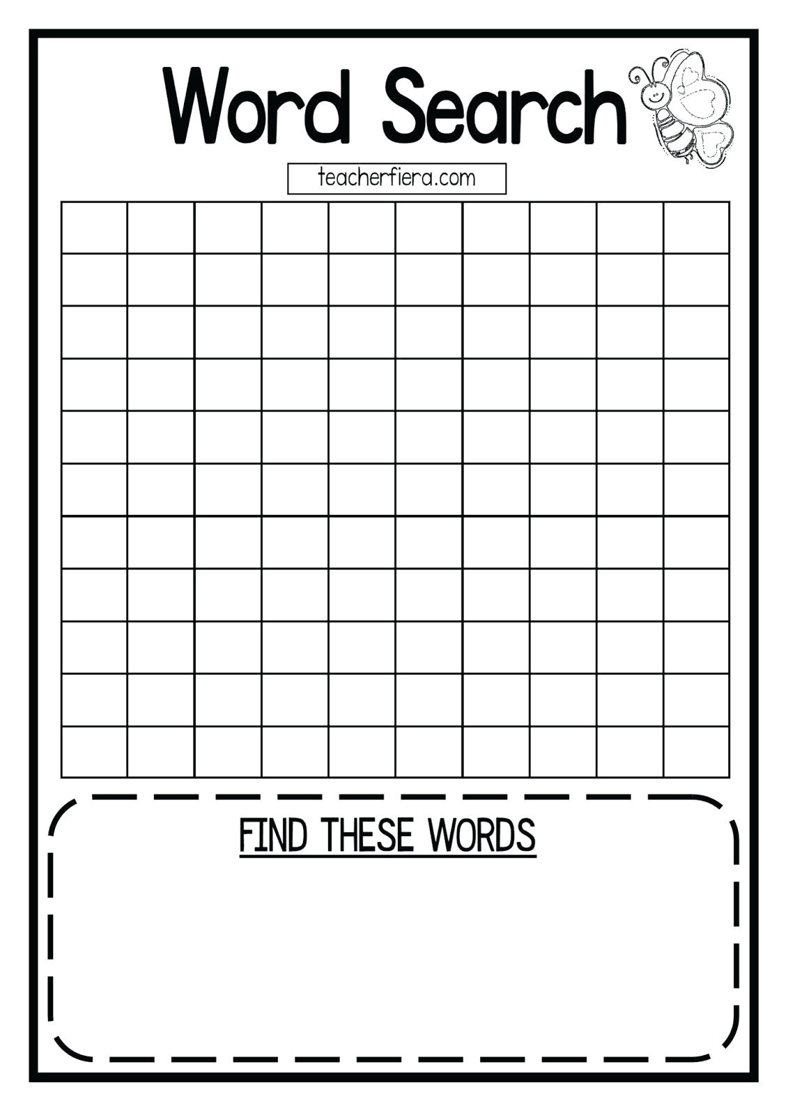 diy word search template