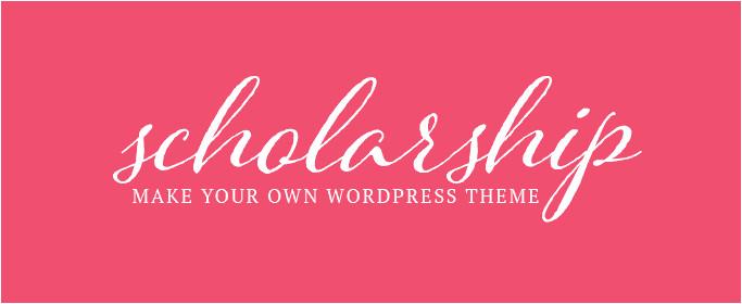 scholarship make own theme free