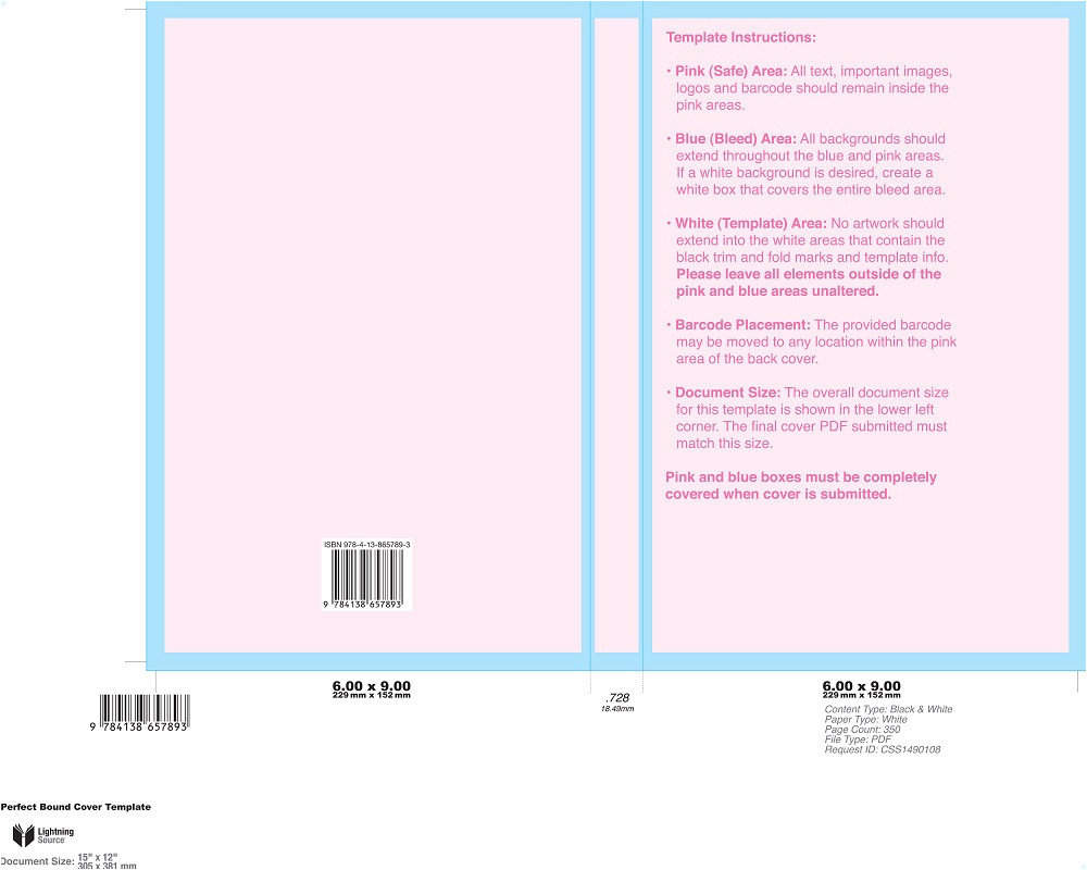 Createspace Interior Templates How to Create A Book Cover for Ingram Spark and