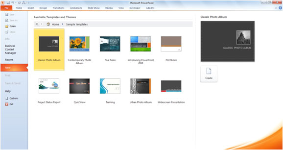 using powerpoint 2010 templates