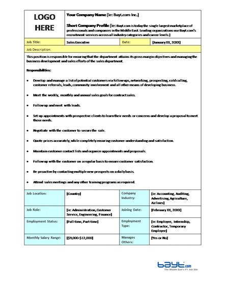 how to create a job description template