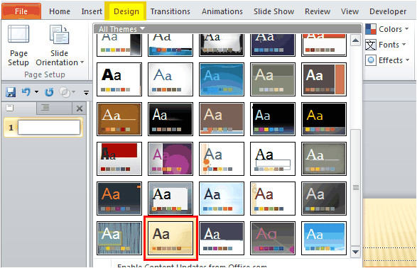 how to create a banner in powerpoint 2010