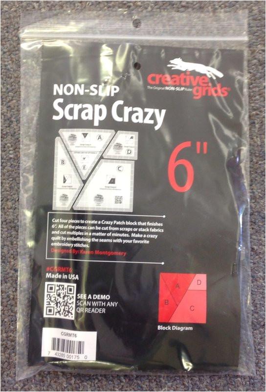 Creative Grids Scrap Crazy Template Creative Grids Non Slip Scrap Crazy 6 Inch Set Of