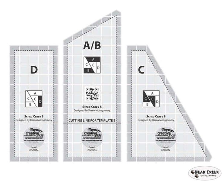 creative grids scrap crazy 8 inch templates