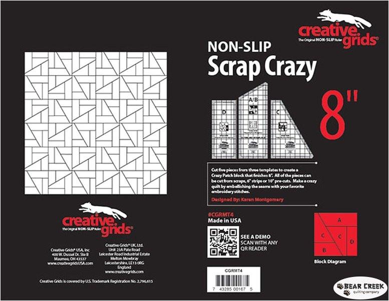 Creative Grids Scrap Crazy Template Creative Grids Scrap Crazy 8 Inch Templates